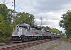 EMD GP40 Diesel Locomotive at Hillside in New Jersey, USA