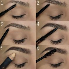 Make Up; Look; Make Up Looks; Make Up Augen; Make Up Prom;Make Up Face; Eyebrow Makeup Products, Best Eyebrow Makeup, Eye Makeup Tips, Eyebrow Pencil, Best Makeup Products, Makeup Hacks, Makeup Ideas, Makeup Eyebrows, Drawing Eyebrows