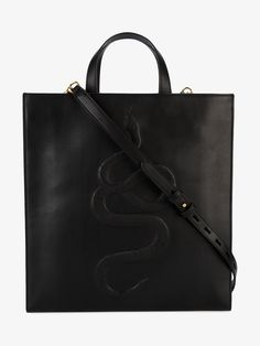 Gucci Snake Embossed Tote Bag