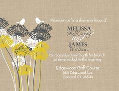 love these burlap-like invites!