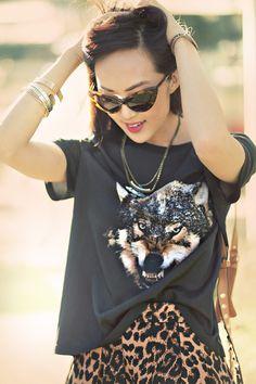(animal Instincts) Leopard + Python Prints ( Sunglasses & Animal Print T-Shirts )