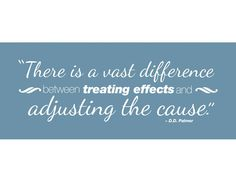 """Available in black or white vinyl, this 30"""" x 10"""" chiropractic decal will help your patients understand the difference between addressing the cause versus treating symptoms."""