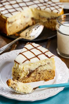 Cinnamon Roll Cheesecake- cinnamon rolls form the crust of this creamy cheesecake.
