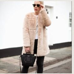Faux fur coat Zara faux fur coat . Brand new without tag . Extremely warm / soft touch . Very chic Zara Jackets & Coats