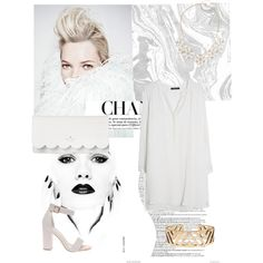 White by julie-buathier on Polyvore featuring polyvore, mode, style, MANGO, Kate Spade, Lucky Brand and Dorothy Perkins