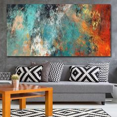 Large Size Wall Pictures For Living Room Home Decor Abstract Clouds Colorful Canvas Painting Art Home Decor No Frame Living Room Canvas, Living Room Art, Wall Canvas, Canvas Art Prints, Large Canvas Paintings, Grand Art Mural, Living Room Pictures, Wall Pictures, Painting Pictures