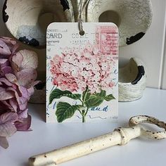 Vintage style hydrangea tags... perfect for escort cards or gift tags x by Claryce Design on Not On The High Street