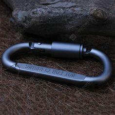 Aluminium Alloy 3 Holes Tie knots Quickly For Camping Outdoor Climbing Carabiner