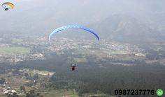 Paragliding Quito Ecuador  Paraglide enjoying the mountain scenery of the Ecuadorian highlands.