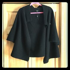 Talbots shrug sweater XL Great topper over a pencil skirt and blouse for work/church or dresses up a simple jeans and tee. Good condition. Warm! Merino wool. Talbots Sweaters Cardigans