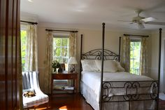 Beth V. sent photos of her beautiful bedroom, done in our French Country Linen Beige Toile. Didn't she do a great job decorating the room?