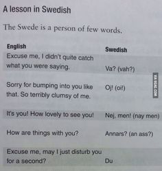 The swedish language (this is so funny )