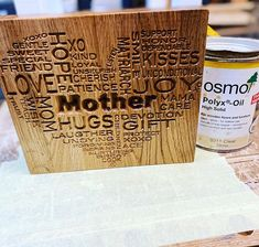 Something for my daughters to give their mum on Mother's Day. . . Using VCarve pro trial I managed to trace the image and create the tool paths, if you are thinking of getting some software I'd highly recommend it 👌🏼 . . Treated with some Osmo Gloss Polyx really brings out the grain and highlight all the contours in the VCarve. .