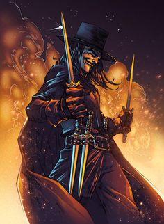 V for Vendetta #artwork #AlonsoEspinoza