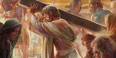 Jesús carga su madero