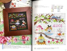 Paperback: 33 pages Publisher: Bunka Language: Japanese Book Weight: 100 Grams Contents: 21 Designs of Cross Stitch Patterns. Just Cross Stitch, Modern Cross Stitch, Cross Stitch Designs, Cross Stitch Patterns, Hand Embroidery Flowers, Hand Embroidery Designs, Alice In Wonderland Cross Stitch, Stitch Character, Japan Crafts