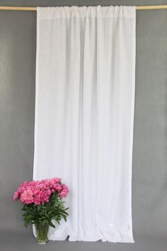 Rod Pocket Linen Curtain Panel / WHITE / airy and natural / linen drapes. This listing is for ONE rod pocket linen curtain panel. By covering windows with white airy curtains, you can soften the light and protect the room from the sun, while your interior still remains bright. Linen curtains gives cozy, fresh and natural look to your home. TAKING CARE: - washable at 40 °C - avoid wringing when washing by hand - avoid using bleach containing chlorine - use fabric softeners especially…
