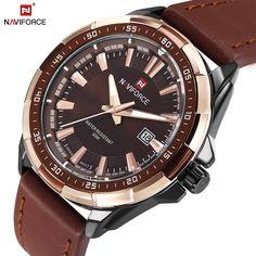 Luxury Men Quartz Genuine Leather Waterproof Watches //Price: $31.48 & FREE Shipping //     #deal