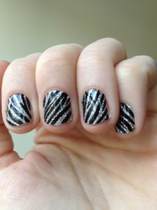 Live Gorgeous host Jenny Kay shows how to do zebra glitter nails with stickers. Zebra Nails, Shoe Nails, Holiday Nail Designs, Holiday Nails, Sparkle Nails, Glitter Nails, Get Nails, Hair And Nails, Sassy Nails