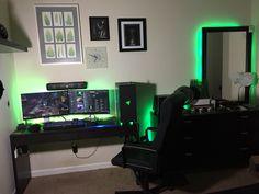 My Razer themed setup!