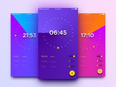 100 Days UI Challenge - Day 13: Alarm Clock on Behance