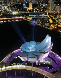 Aerial view of The ArtScience Museum Singapore