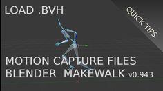 Load .BVH Motion Capture Files Onto A Rig (Blender 2.73 MakeWalk 0.943)