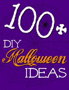 Awesome list with links to over 100+ Halloween fun foods, crafts, costumes, & decor ideas via momendeavors.com #Halloween