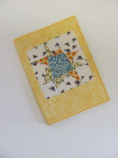 A5 book cover  Refillable flowers and bees by ClaireWheatDesigns