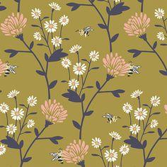 Hawthorne Threads - Nectar - Clover Field in Gold