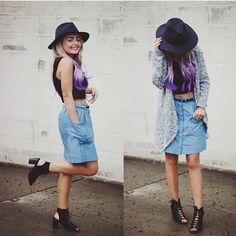 @modaprints daytime to nighttime #outfit  #hair #fashion