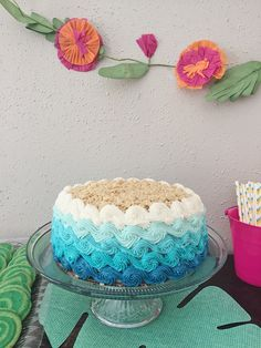 Ombre Wave Cake by The Sugar Llama