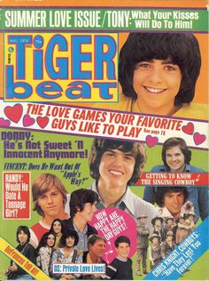 Tiger Beat, August 1974  (funny because I REMEMBER THIS COVER!)