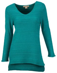 Natural Reflections Jacquard Pattern V-Neck Sweater for Ladies | Bass Pro Shops