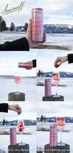 Winter getaway forecast: 1000% chance of Smirnoff Raspberry Rosé.