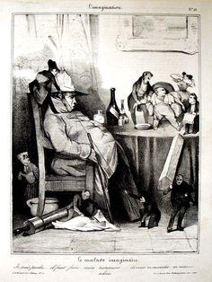 Charles Ramelet (1805-1851) after a design by Honoré Daumier (1808-1879), Le malade imaginaire. Je suis perdu…. il faut faire mon testament……. ils vont m'ensevelir… m'enterrer…. adieu!, 1833. Lithograph. Graphic arts, GA 2009.00086. Gift of William H. Helfand. From the series L'Imagination, no. 10 published in Le carivari May 21, 1833.