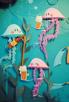 Paper art by Brittney Lee
