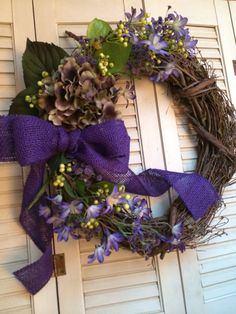 "XL 22"" SPRING Wreath, Victorian Floral Wreath, Hydrangea Wreath, Mothers Day Wreath, Easter Wreath   on Etsy, $80.00"