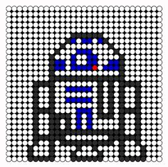 Ohhhh yeah, this one is going to be my first attempt. Woot!R2d2 Perler Bead Pattern | Bead Sprites | Characters Fuse Bead Patterns