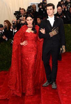 Monica Bellucci  Roberto Bolle in Dolce  Gabbana  Met Gala 2014