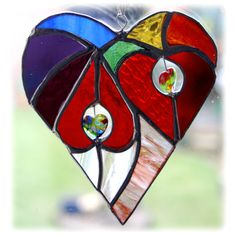 Suncatcher stained glass folksy handmade shamrock lucky | Glass Crafts | Popular Crafts | Craft Juice