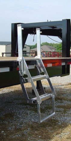 The Drop Deck Trucker is a two step ladder that provides standard Wide Grip Strut steps in a stairway design and vertical posts for three points of contact fall protection. https://www.iascustom.com/store/truck-trailer-ladders/drop-deck-trucker/