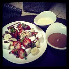 #strawberries  #banana #chocolate #cream