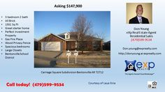 3 BR 2 BA investment property for sale in Bentonville School District Bentonville School D  https://gp1pro.com/USA/AR/Benton/Bentonville/Carriage_Square/3900_SW_Moline_Ave.html  Call or text 479-599-9534 to schedule a private showing.  So much house for so little price! Great starter home for a new or budding family. Perfect investment home for a new investor looking to break out in the market.  This 1501 square foot single family home has 3 bedrooms and 2.0 bathrooms. It is in the quiet…