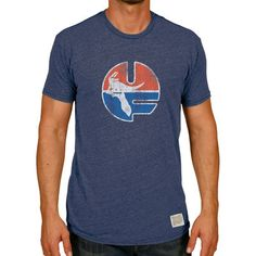 Florida Gators Original Retro Brand Vintage UF Tri-Blend T-Shirt - Heather Navy