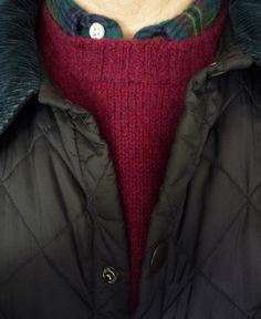 The Weekend. Brooks Brothers 1950s Lanella 50/50 tartan flannel shirt, Harley Shetland sweater. Liddesdale jacket. Tan Cords & Jack Purcells.