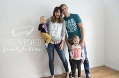 screen printed family tshirts.