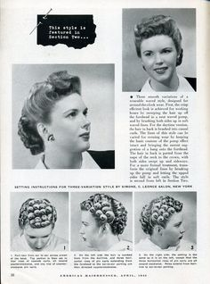 Vintage Pin Curls Diagram 2005 Kia Spectra Radio Wiring 763 Best Hair Make Up And Otherwise Tutorials Setting Instructions Retro Hairstyles Tutorial Curled