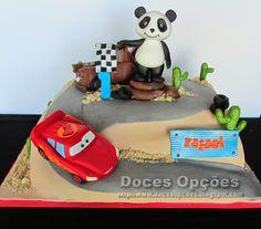 Doces Opções: Bolo com o Panda a assistir à corrida do Faísca e ...
