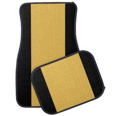 Yellow  Black Car Mats Full Set (set of 4) Floor Mat